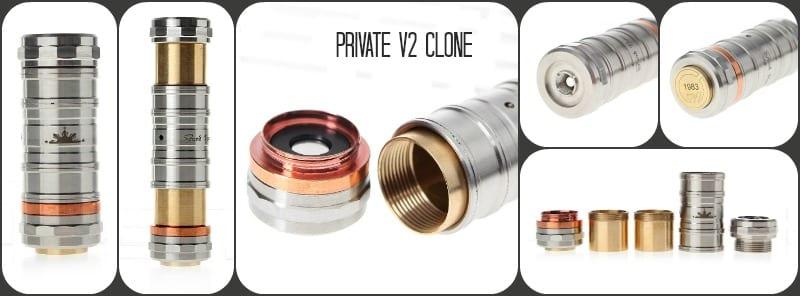 Private V2 e-cig mod Clone