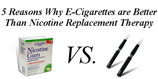 e-cigarettes VS. Nicotine Replacement Therapy
