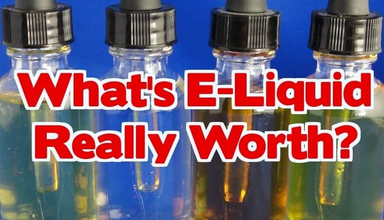 E-Liquid bottles - Whats e-liquid worth?