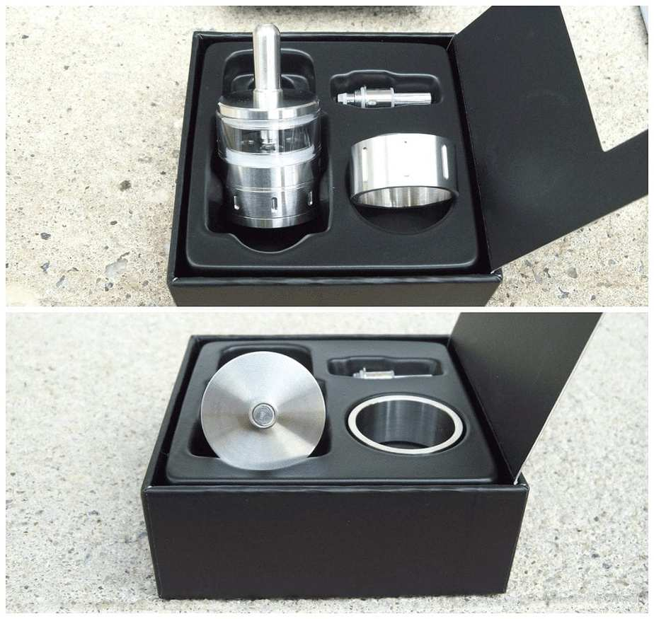 Aerotank Atomizer Top and bottom views
