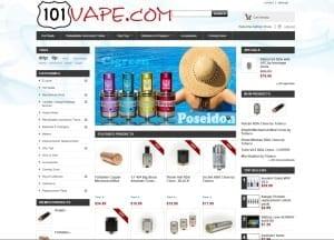 101Vape.com Homepage ScreenShot