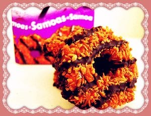 girl scout samoa cookie