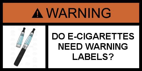 E-Cigarette Warning Label