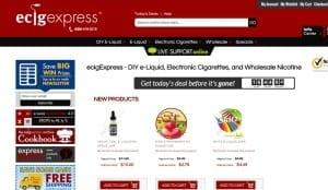 ecigexpress.com website screenshot