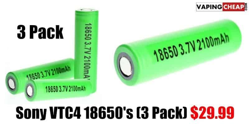 Sony VTC4 18650 batteries