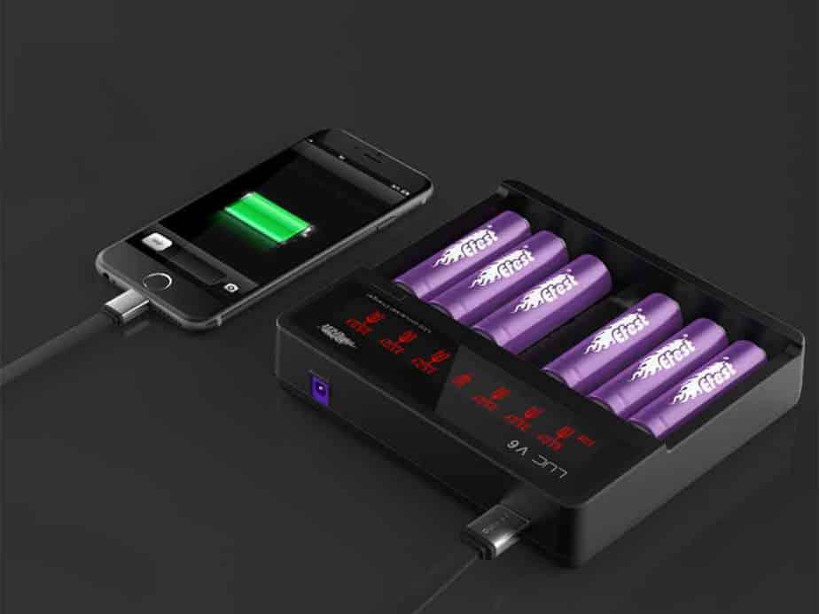 LUC V6 Vape Battery Charger
