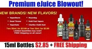eJuice Blowout Sale