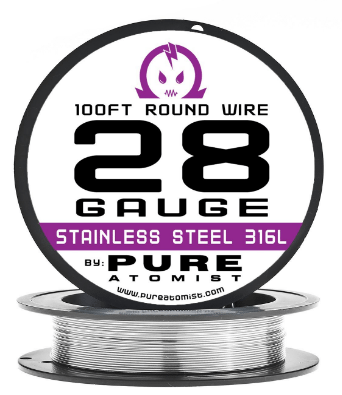 Best wire for vaping reviews kanthal wires more stainless steel 316l wire 100 roll by pure atomist greentooth Choice Image