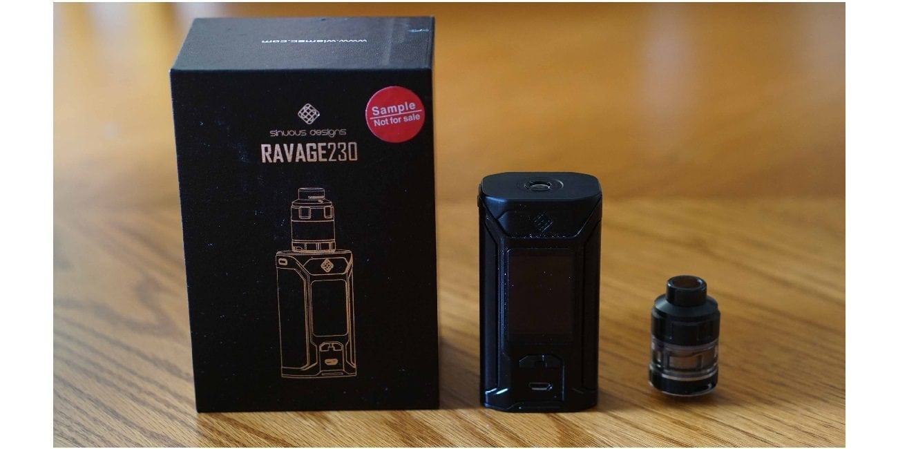 Wismec Sinuous Ravage230 Kit Review