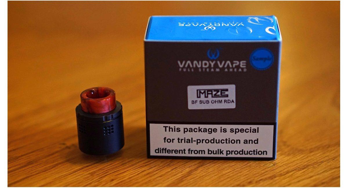 Vandy Vape Maze Sub Ohm BF RDA Review