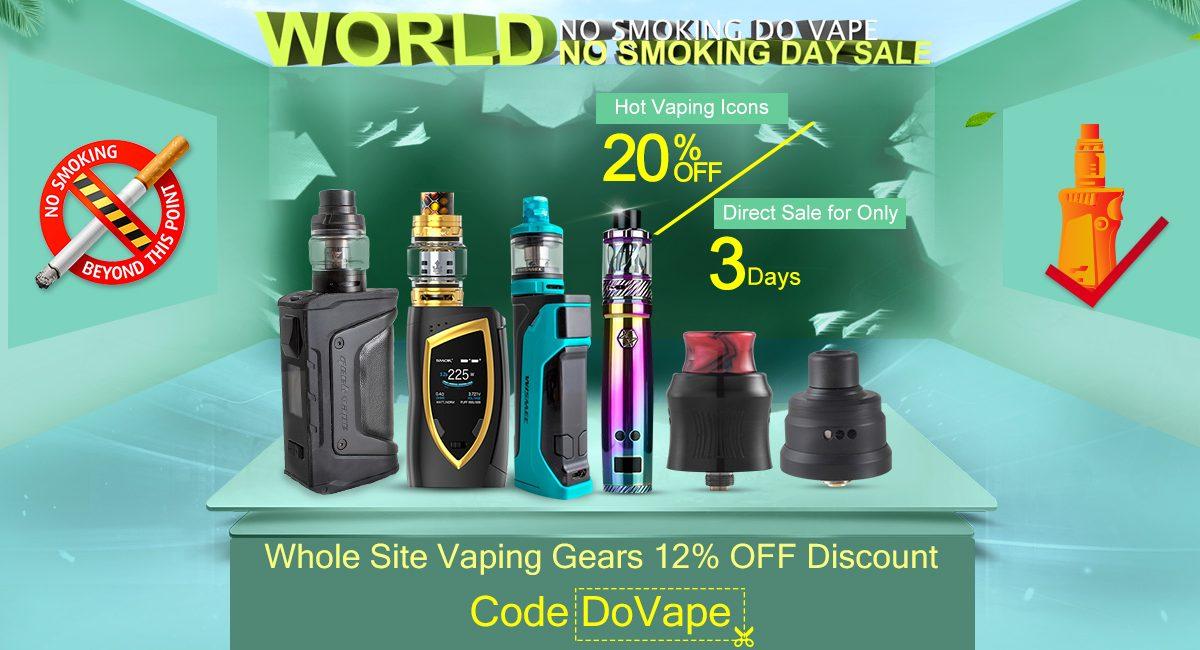 VapeSourcing World No Smoking Day Sale 2018