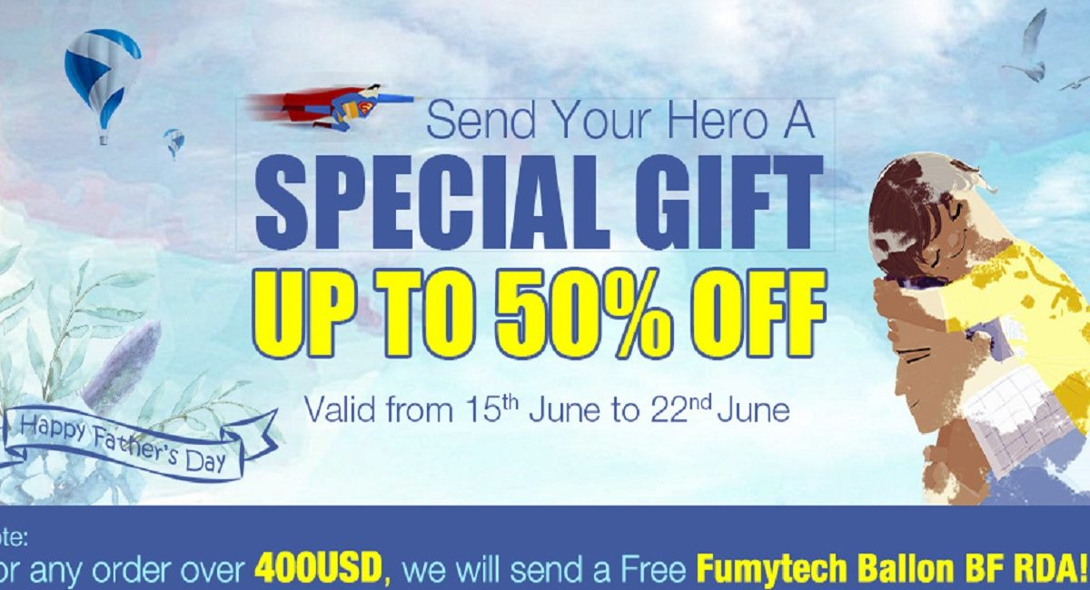 Cigabuy Father's Day Sale! Save up to 50% OFF!
