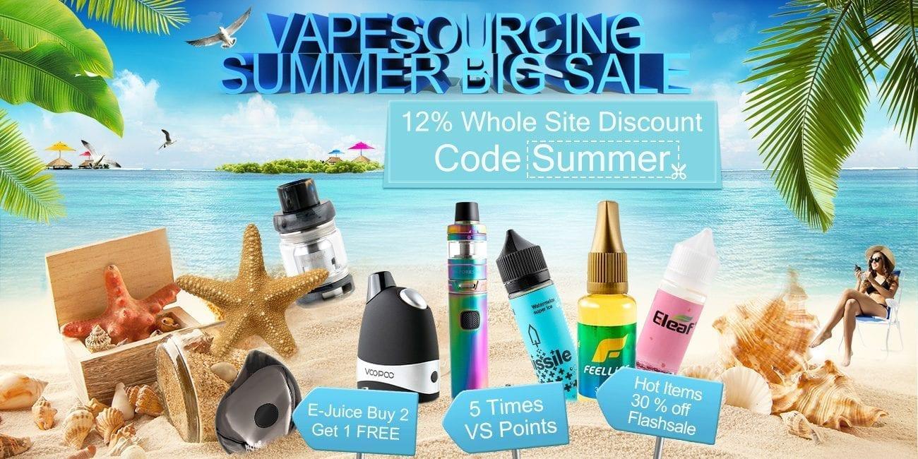 VapeSourcing Summer Vape Sale 2018