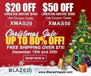 Blazed Vapes Christmas Deal List 2018