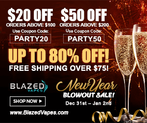 Blazed Vapes New Year Sale Deal List 2019