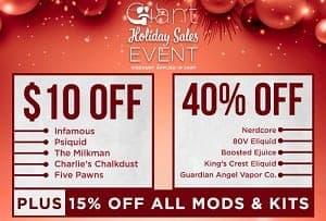 Giant Vapes Christmas Deal List 2018