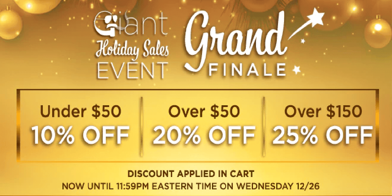 Giant Vapes Holiday Sale Finale 2018