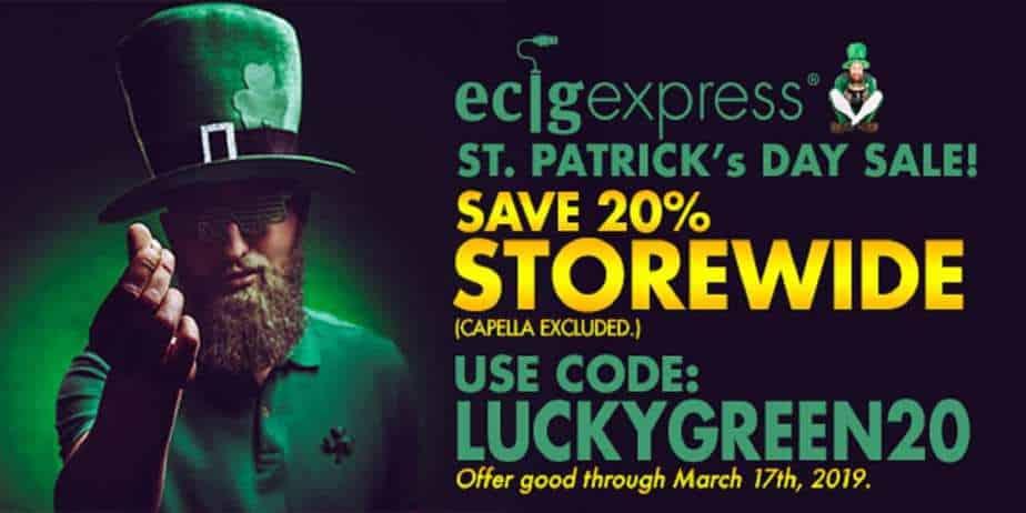 EcigExpress Saint Patricks Day Sale 2019