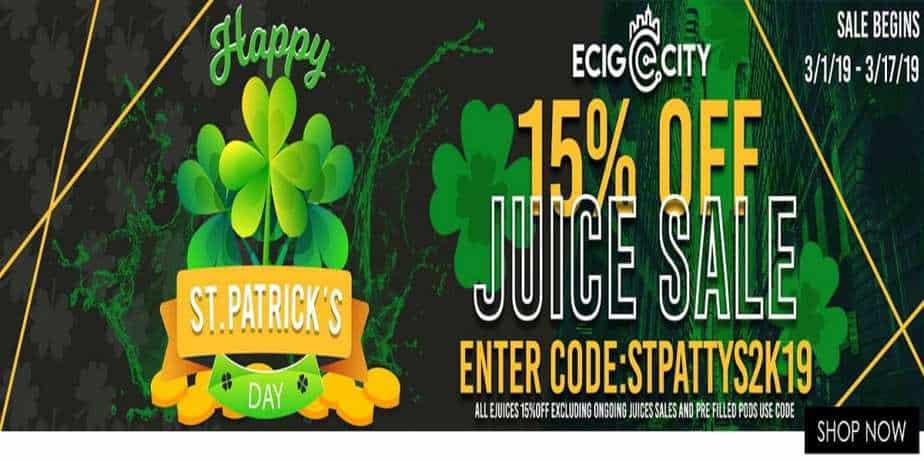 Ecig City St. Patricks Day Sale 2019