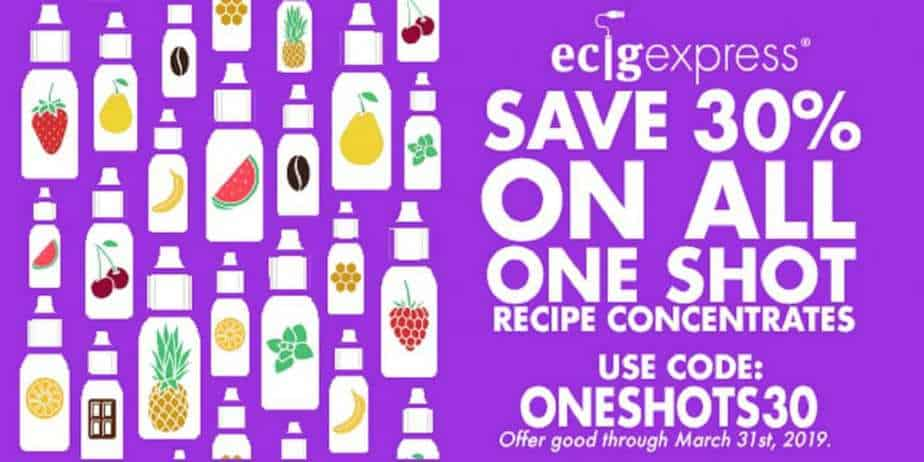 EcigExpress One Shot Sale