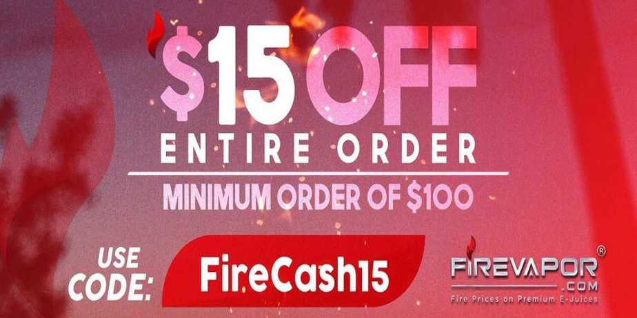 Fire Vapor Cash Sale 2019