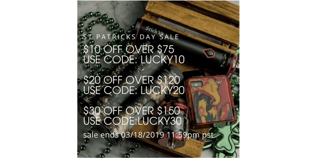 VaporDNA St. Patricks Day Sale 2019