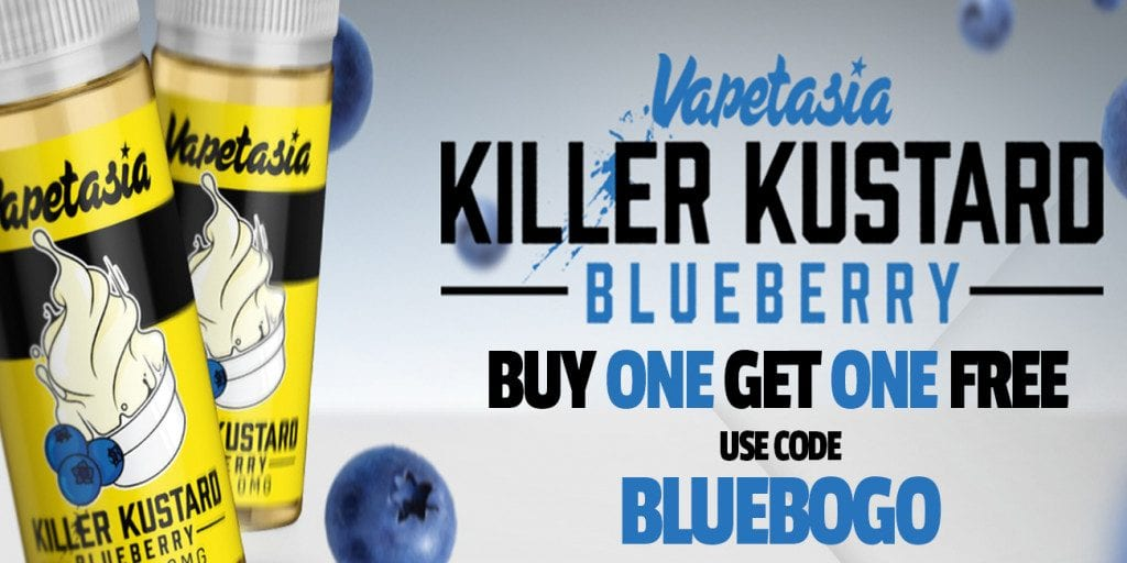 Vaptasia Killer Kustard Blueberry BOGO Sale! - Vaping Cheap