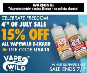 VapeWild July 4th Sale