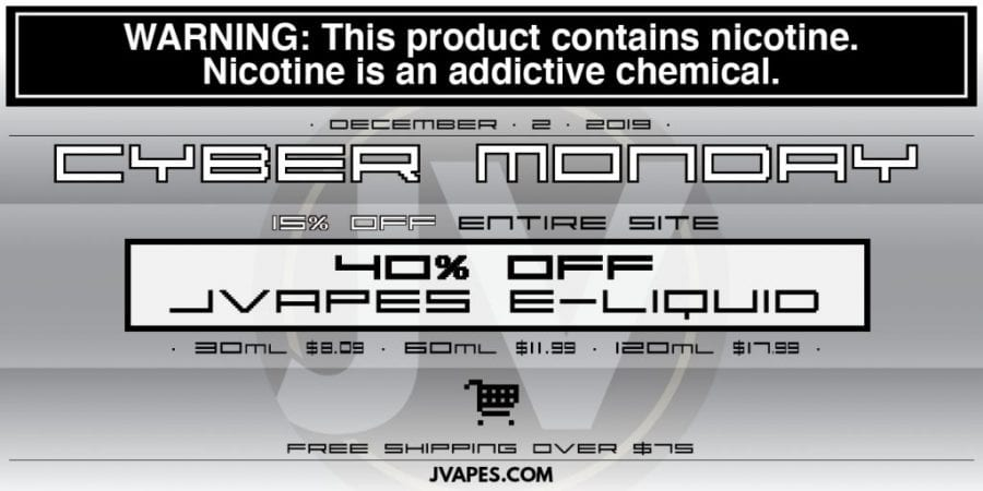 JVapes Cyber Monday Sale