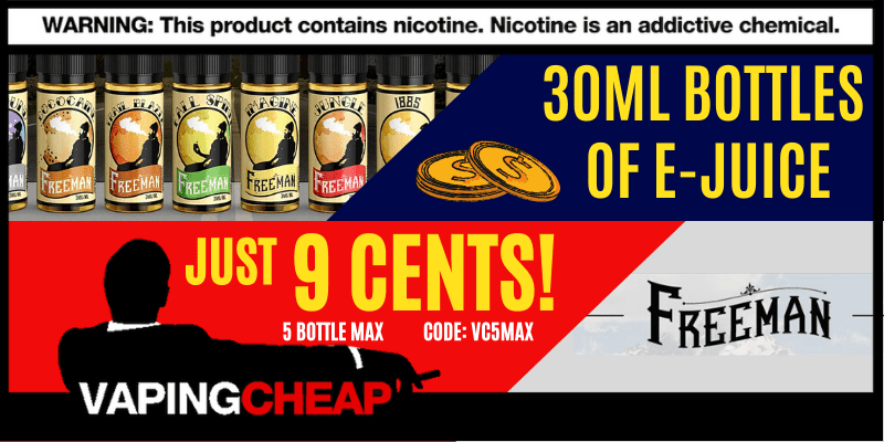 Freeman Vape Juice 30ml Sale (VapingCheap)