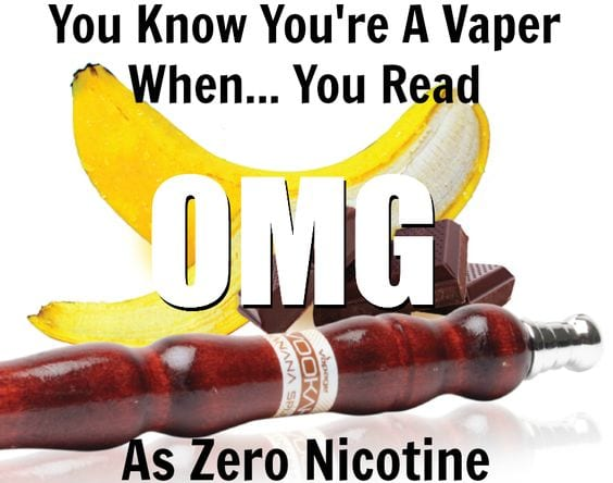 OH MY GOD there's no nicotine!