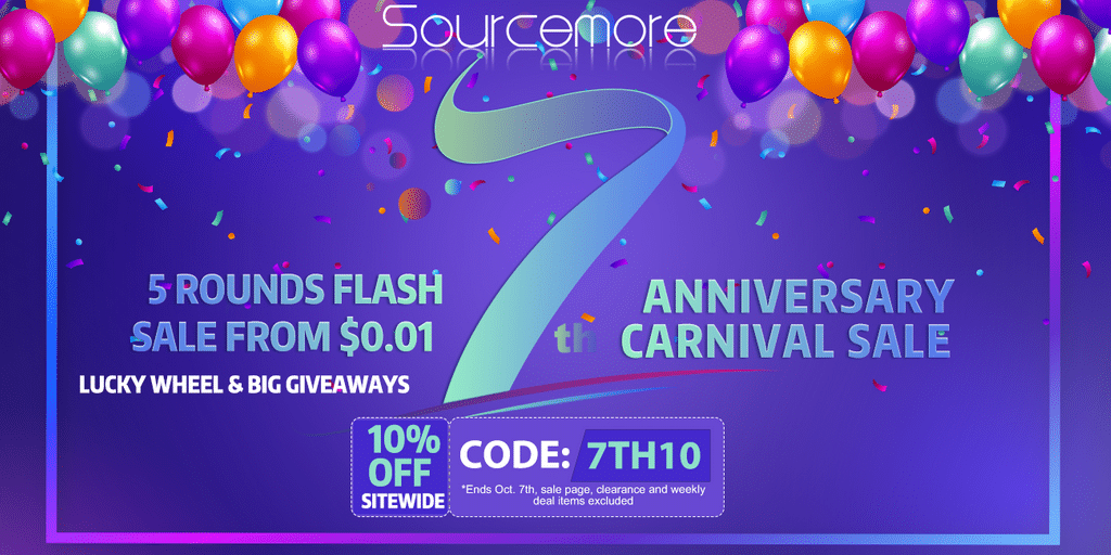 Sourcemore 7th Anniversary Sale