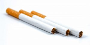 How much nicotine is in a cigarette?